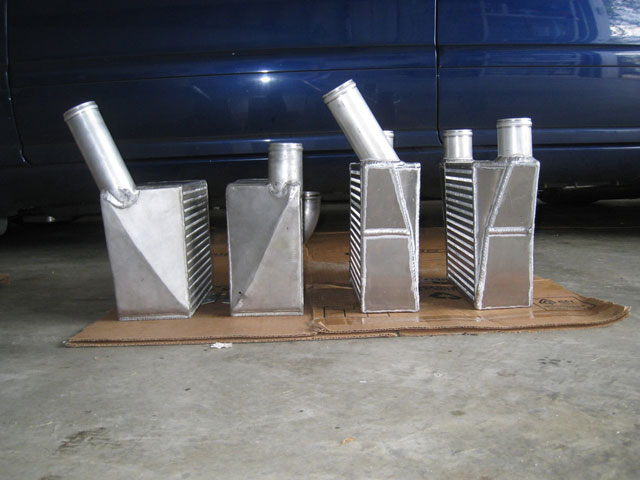 ER and AMD intercoolers lined up