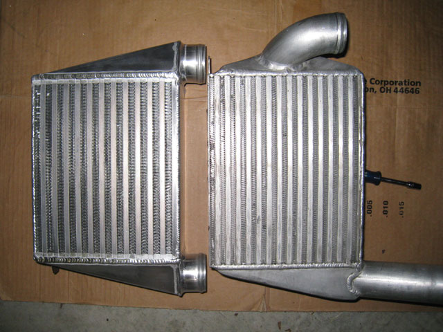 Apikol and ER intercoolers front view