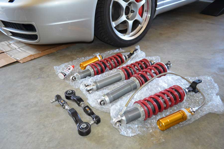 Stasis/Ohlins Motorsport Coilovers and Stern Adjustable Upper Control Arms