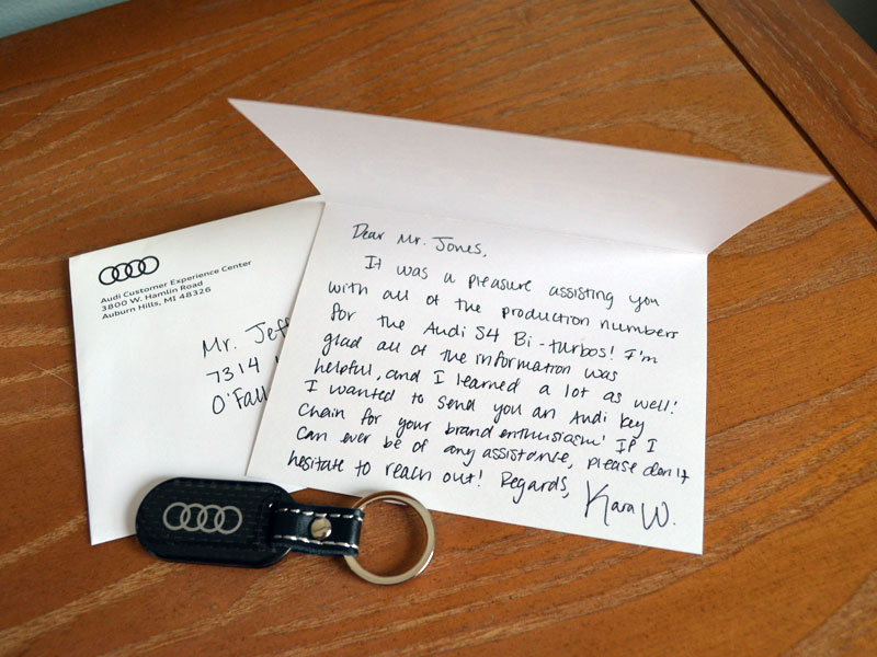 Audi Experience Letter