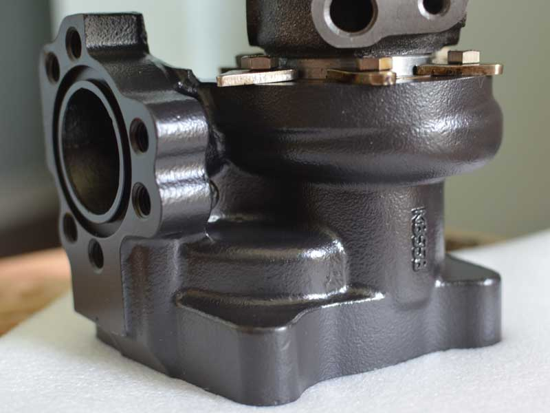 FrankenTurbo F21 turbine housing with Thermal Coating applied