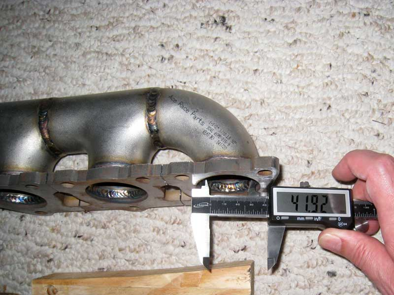silly rabbit motorsport exhaust manifold primary inlet