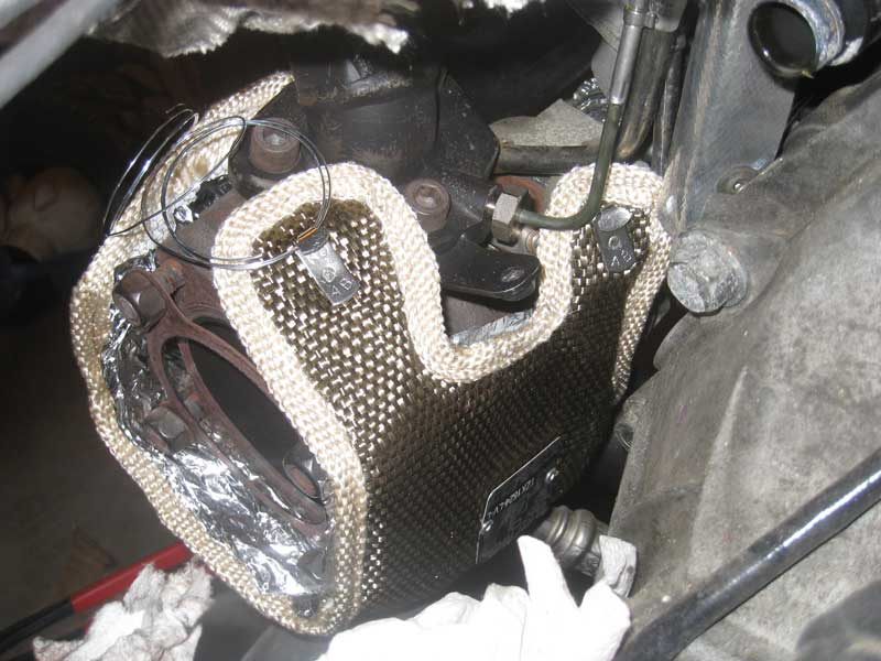 thermal zero turbo blanket fit on borgwarner k03 top rear shot