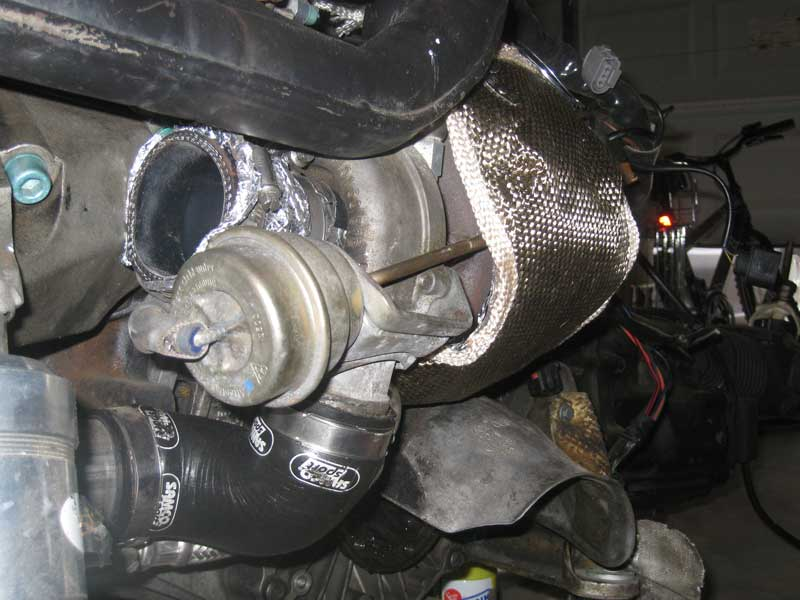 thermal zero turbo blanket fit on borgwarner k03 front shot