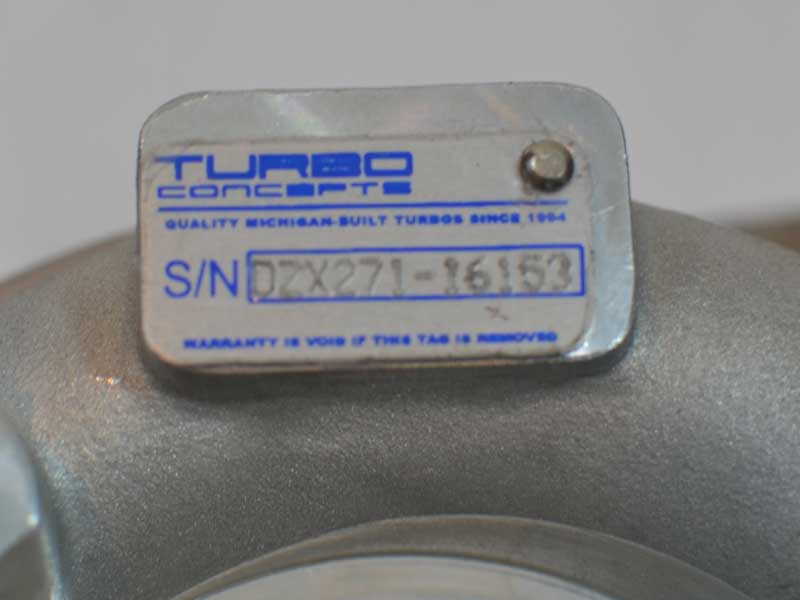 Turbo Concepts DZX-271 Turbocharger Tag