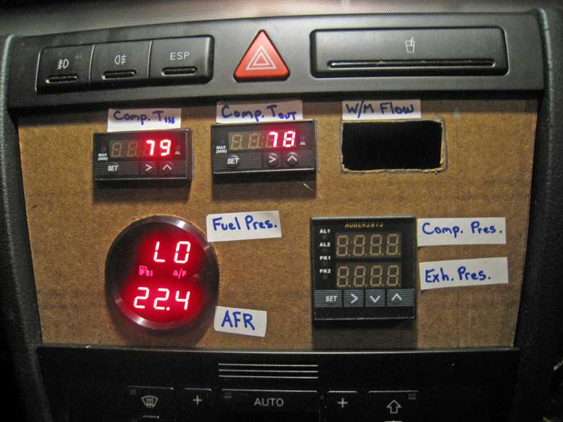 Gauge Panel with Turbo Temperature Gauges Wired Up